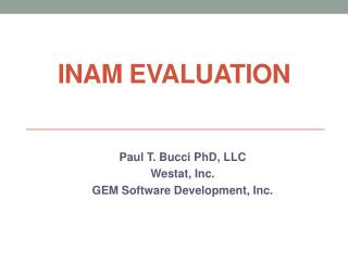 INAM EVALUATION
