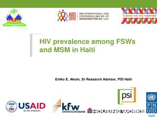 HIV prevalence among FSWs and MSM in Haiti