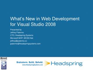 What's New in Web Development for Visual Studio 2008