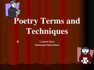 Poetry Terms and Techniques