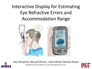 Interactive Display for Estimating Eye Refractive Errors and Accommodation Range