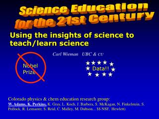 Science Education  for the 21st Century