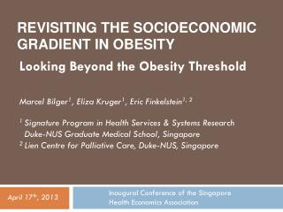 Revisiting the Socioeconomic Gradient in Obesity