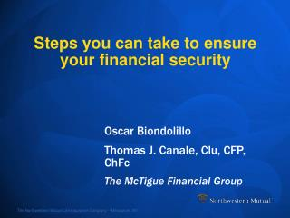 Steps you can take to ensure your financial security