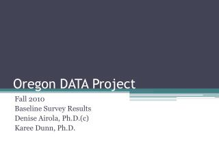 Oregon DATA Project