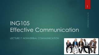 ING105  Effective Communication