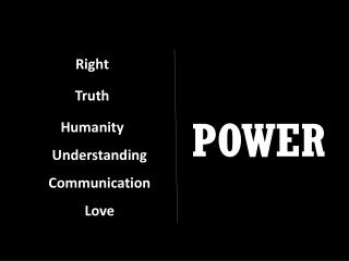 Right Truth Humanity Understanding Communication Love