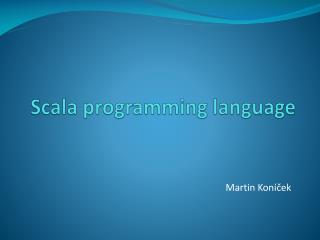 Scala programming language