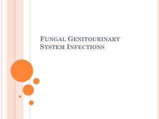 Fungal Genitourinary  System Infections