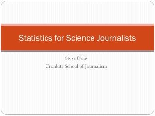 Statistics for Science Journalists