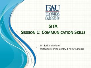 SITA Session 1: Communication Skills