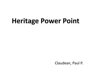 Heritage Power Point