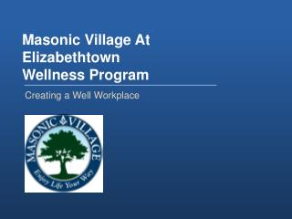 Masonic Village At Elizabethtown Wellness Program