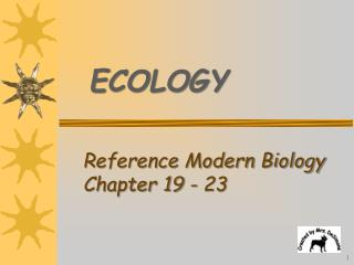 Reference Modern Biology  Chapter 19 - 23