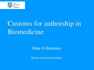Customs for authorship in Biomedicine