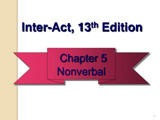 Chapter 5 Nonverbal