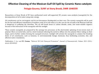 Effective Cleaning of the Mexican Gulf Oil Spill by Ceramic  Nano -catalysts