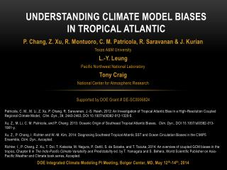 Understanding Climate Model Biases in Tropical Atlantic