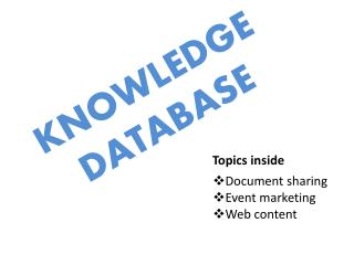 KNOWLEDGE  DATABASE