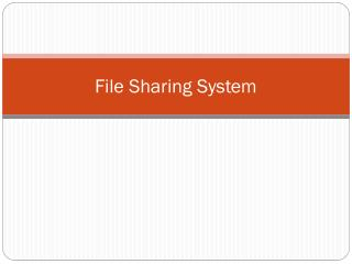 File Sharing System