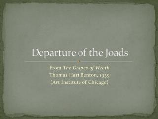 Departure of the Joads