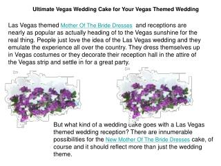 Ultimate Vegas Wedding Cake for Your Vegas Themed Wedding