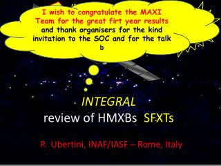 INTEGRAL  review of HMXBs :  SFXTs
