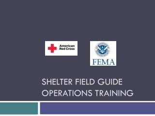 Shelter Field Guide operations Training