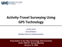 Activity-Travel Surveying Using GPS Technology