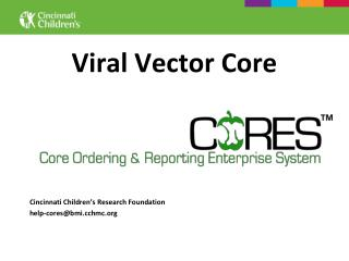 Viral Vector Core