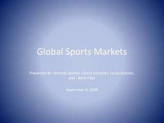 Global Sports Markets