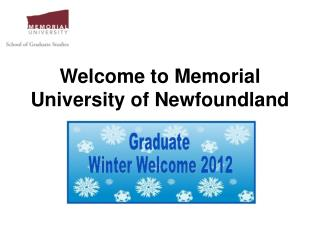 Welcome to Memorial University of Newfoundland