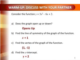 WARM-UP: DISCUSS WITH YOUR PARTNER