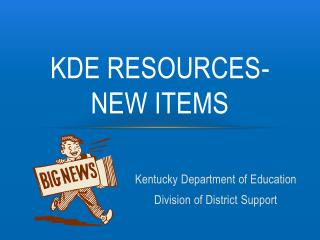 KDE Resources- new items
