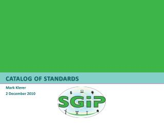 Catalog of Standards