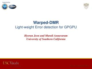 Warped-DMR Light-weight Error detection for GPGPU