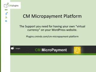 CM Micropayments Plugin