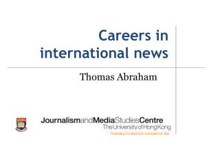 Careers  in international news