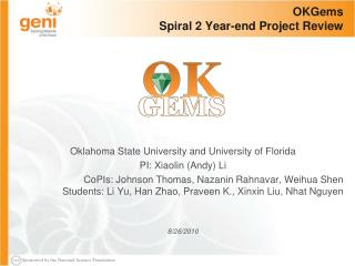OKGems Spiral 2 Year-end Project Review