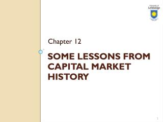 Some Lessons from Capital  Market History