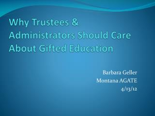 Why Trustees & Administrators Should Care About Gifted Education