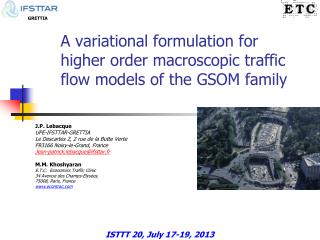 A  variational  formulation for higher order macroscopic traffic flow models of the GSOM family