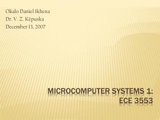 microcomputer systems 1:  ECE 3553