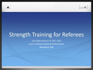 Strength Training for Referees
