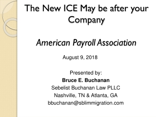 The New ICE May be after your Company American Payroll Association