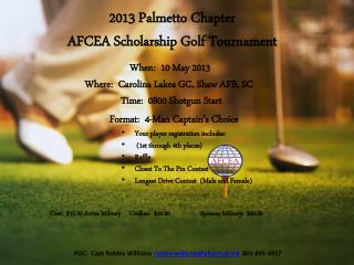 2013 Palmetto Chapter AFCEA Scholarship Golf Tournament