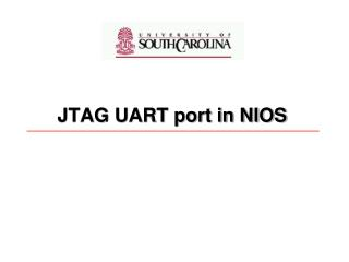 JTAG UART port in NIOS
