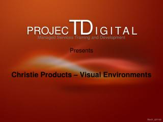 Christie Products – Visual Environments