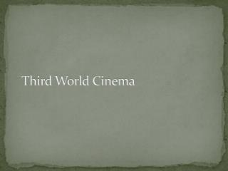 Third World Cinema