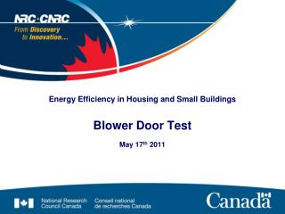 Energy Efficiency in Housing and Small Buildings Blower Door Test
